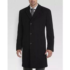 Tahari Black Cashmere Blend Modern Fit Topcoat